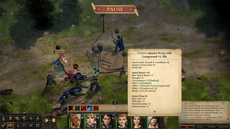Proper Flanking 2 Pathfinder: Kingmaker mod