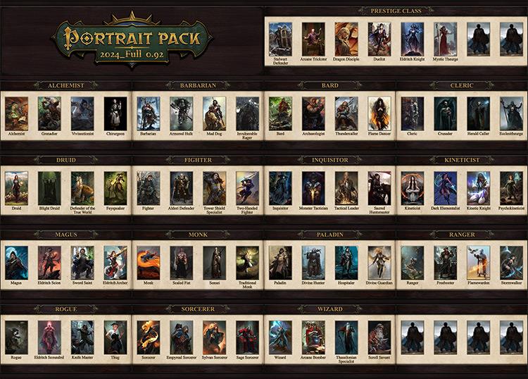 Portrait Packs Pathfinder: Kingmaker mod screenshot