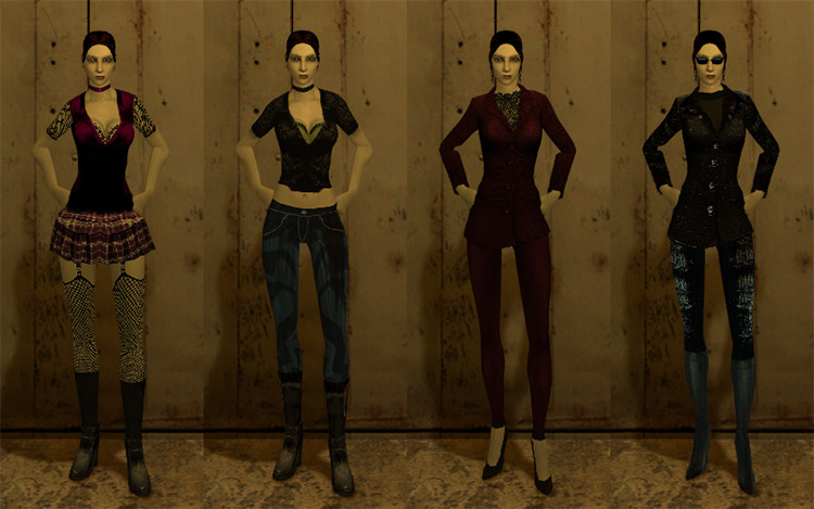 Subtle Female Malkavian Vampire: The Masquerade – Bloodlines mod