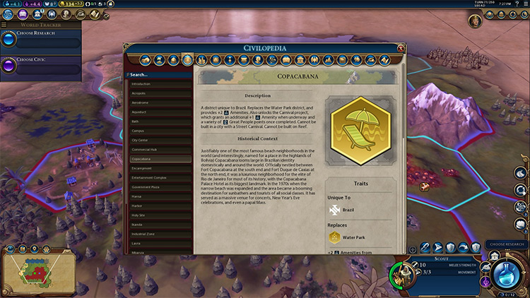 Unique District Icons mod for Civilization VI