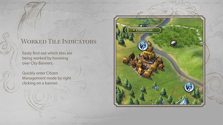 Simple UI Adjustments Civilization VI mod screenshot