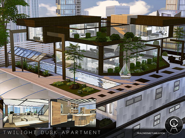Twilight Dusk Apartment mod for Sims 4