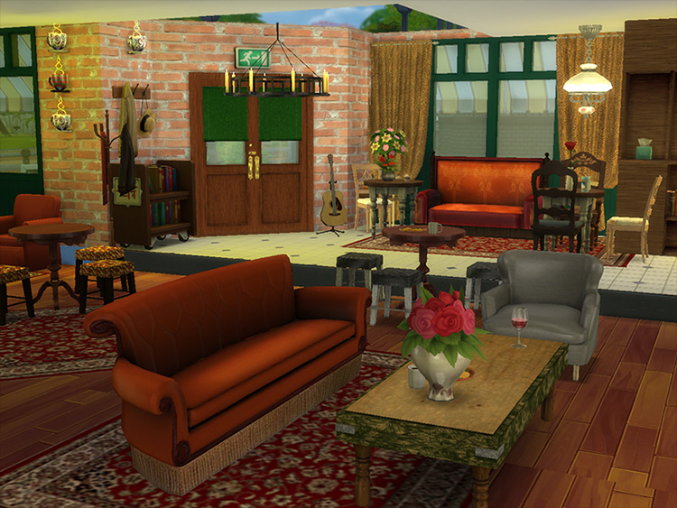More FRIENDS Apartments (Better Central Perk) Sims 4 mod