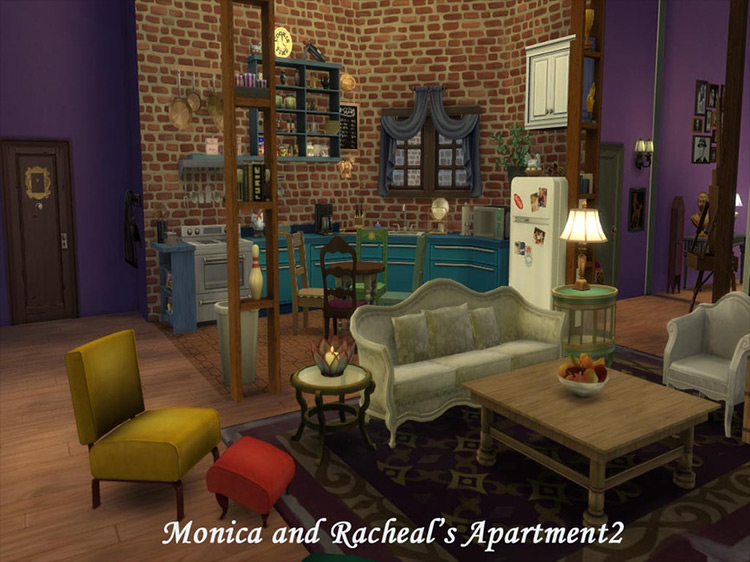 Friends TV Apartments Sims 4 mod