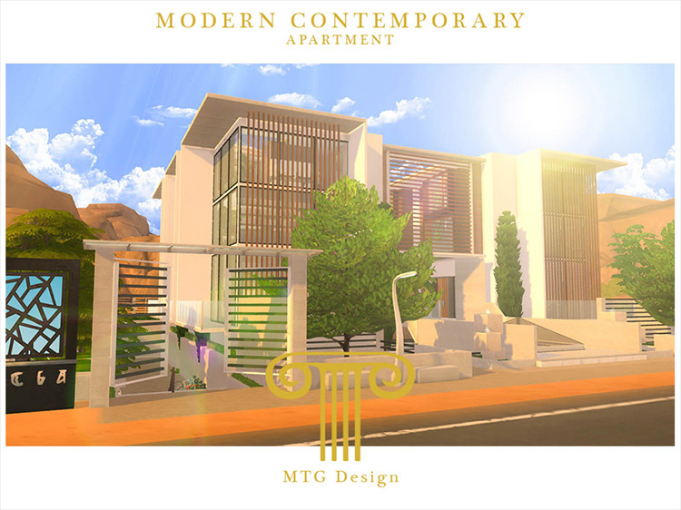 Modern Contemporary Apartment mod for Sims 4