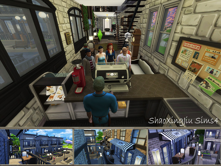 Community Alley Cafe mod for Sims 4
