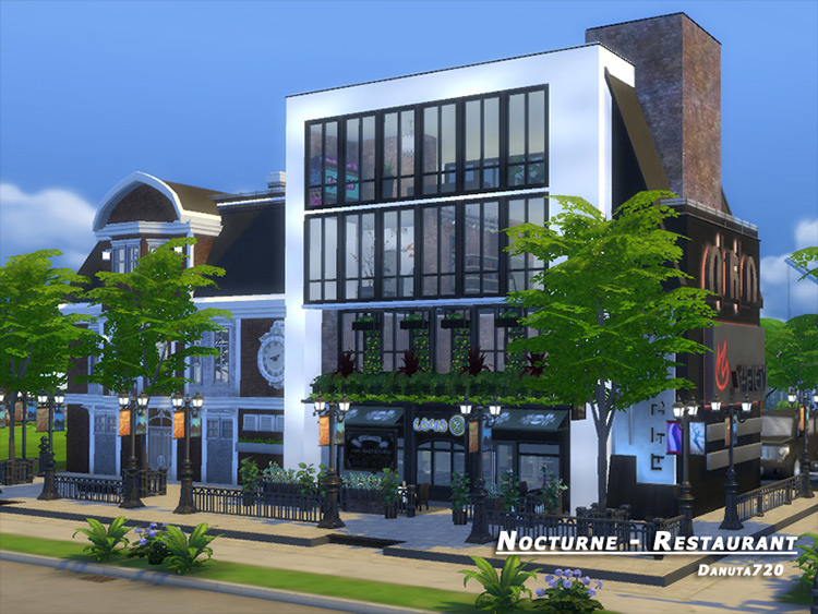 Nocturne + Restaurant Sims 4 mod