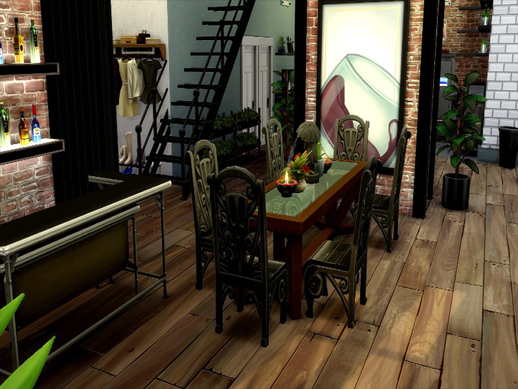 Industrial Apartment mod for Sims 4