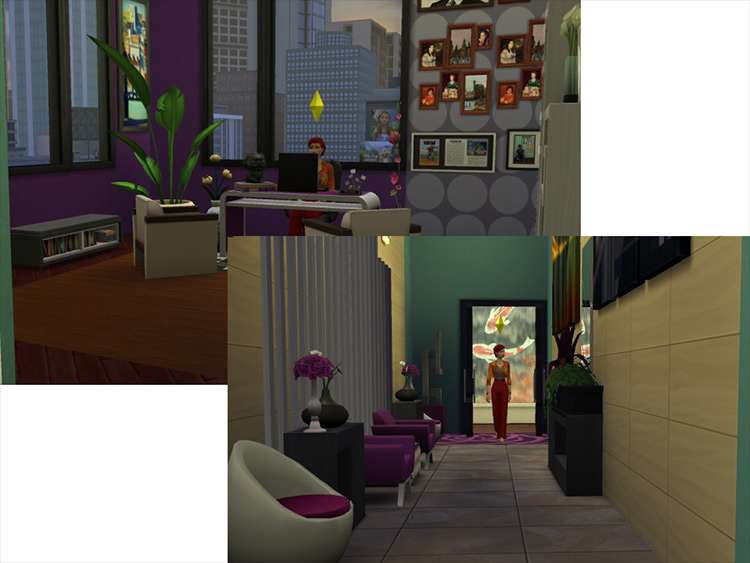 Snazzy High-End Modern Artist Apartment Sims 4 mod