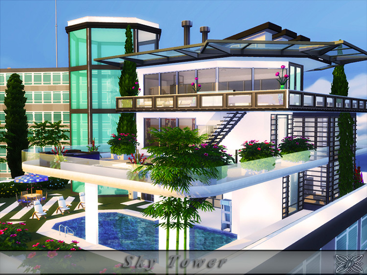 Sky Tower mod for Sims 4