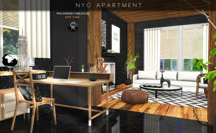 NYC Apartment Sims 4 mod screenshot