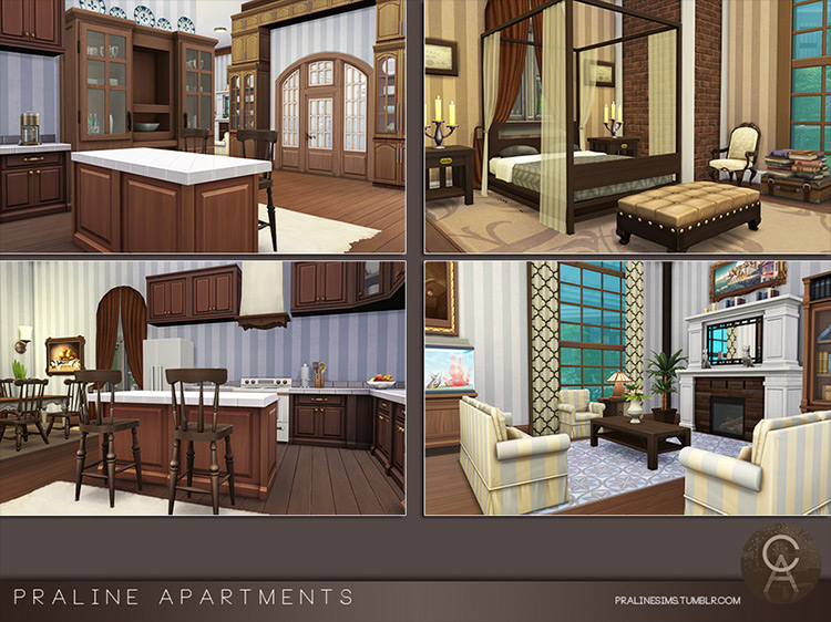 Praline Apartments mod for Sims 4