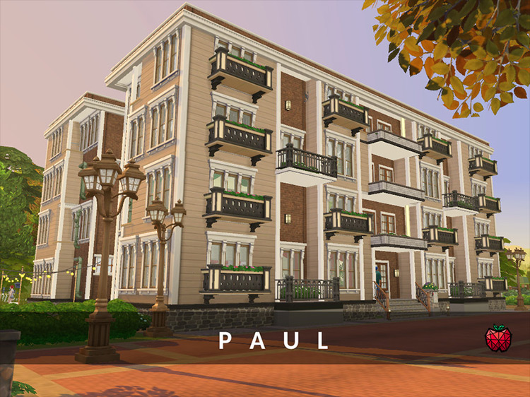 Paul Apartments Sims 4 mod