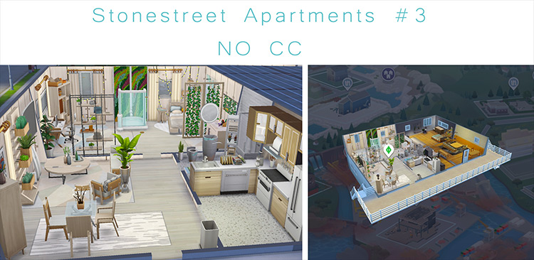Stonestreet Apartments #3 mod for Sims 4