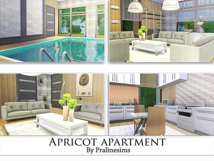 Apricot Apartments Sims 4 mod screenshot