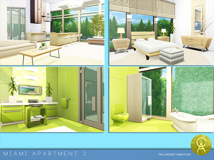 Miami Apartment 2 mod for Sims 4