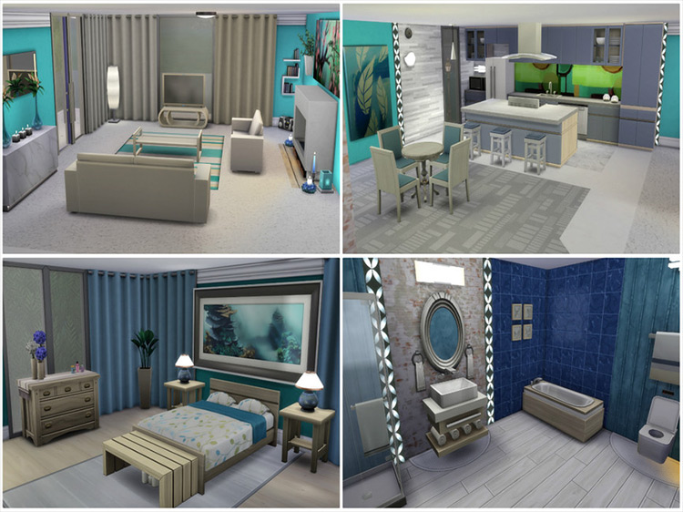 Neon Apartments Part II Sims 4 mod