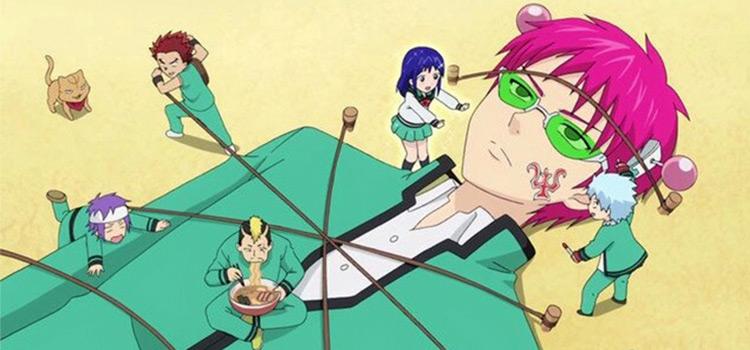 Disastrous Life of Saiki K screenshot being tied down