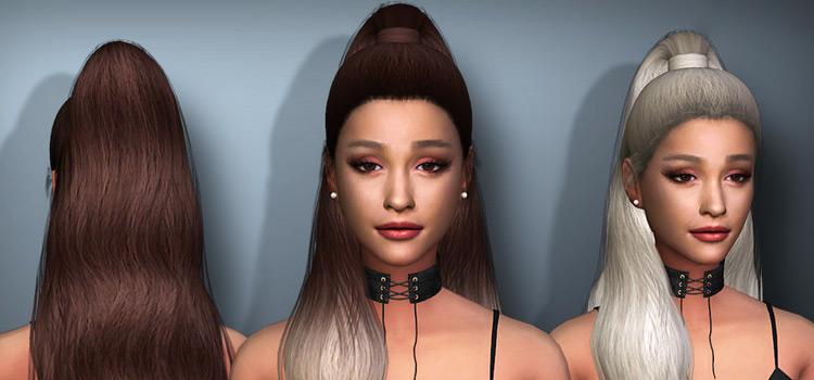 Ariana Grande hairdo CC for The Sims 4