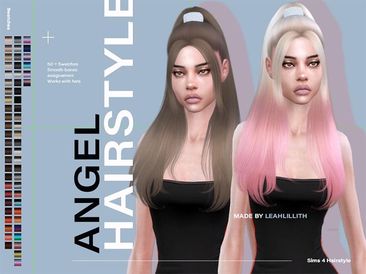 Angel Hair High Ponytail Ari - TS4 CC