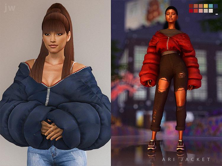 Ari Jacket Sims 4 CC screenshot
