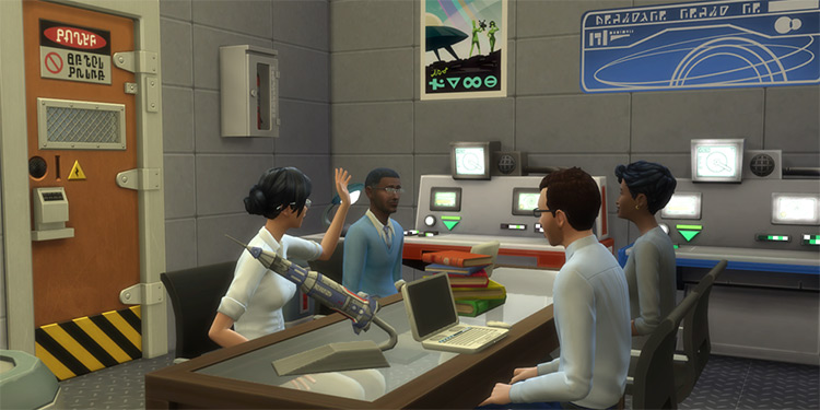 Rocket Scientist Sims4 mod