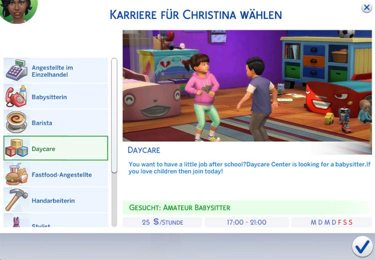 Daycare Sims 4 mod