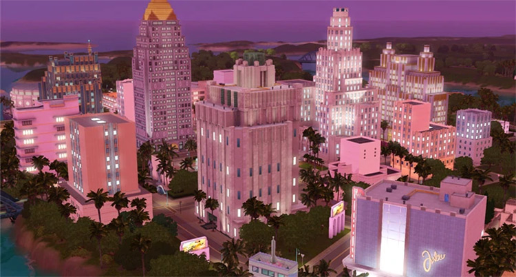 Roaring Heights, best Sims 3 town