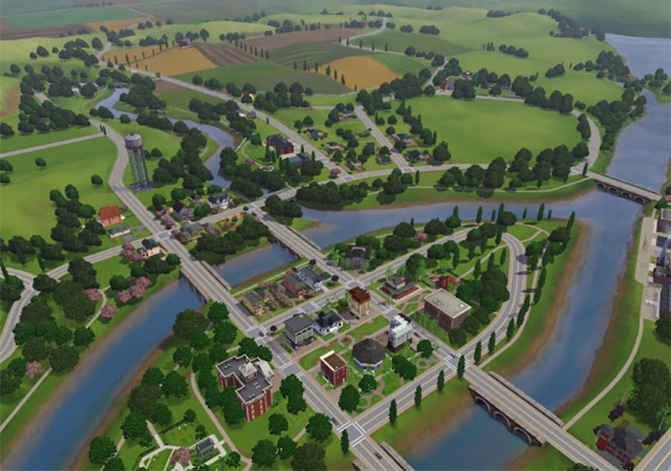 Riverview in Sims 3
