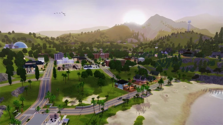 Sunset Valley in Sims 3