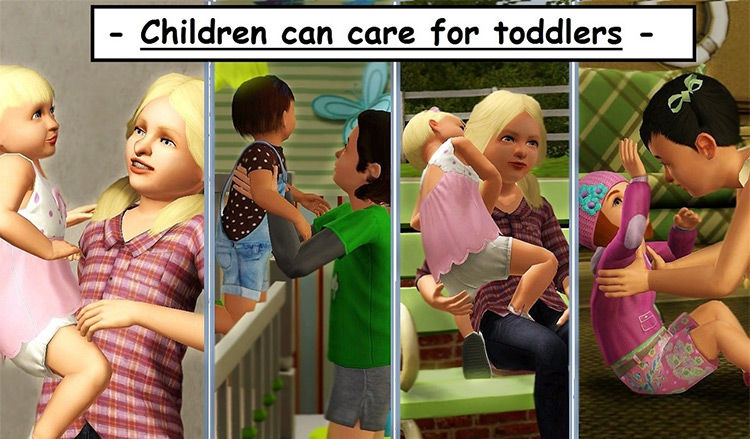 Children Can Care for Their Siblings Sims 3