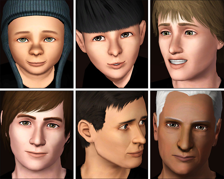 Ultra-Plain Faces Sims 3
