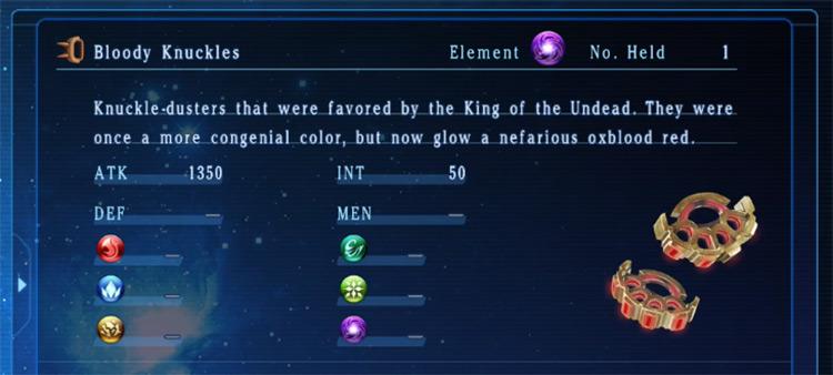 Bloody Knuckles in Star Ocean 5