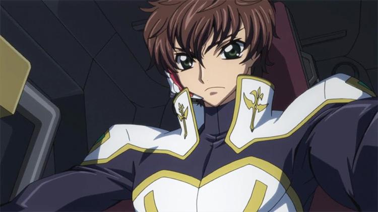Suzaku Kururugi in Code Geass: Hangyaku no Lelouch