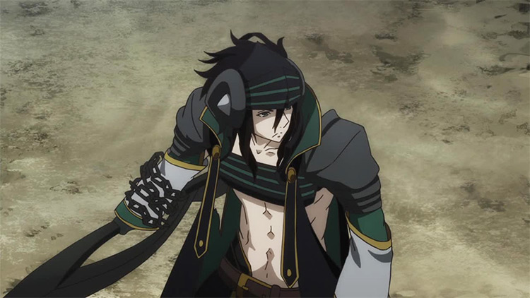 Goldov Auor from Rokka no Yuusha anime