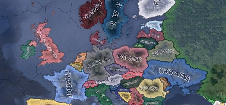 HoI4 HD world map screenshot