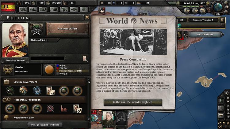 Hearts of Iron: New World Order Mod screenshot