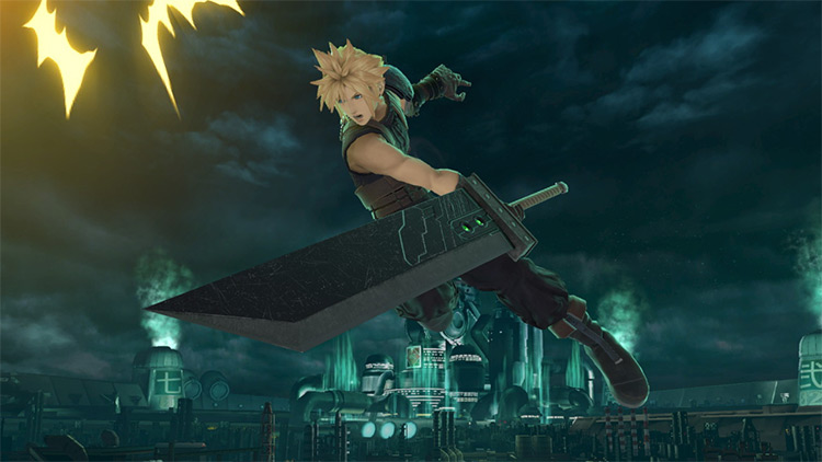 Final Fantasy VII Remake Cloud Character modded into SSBU