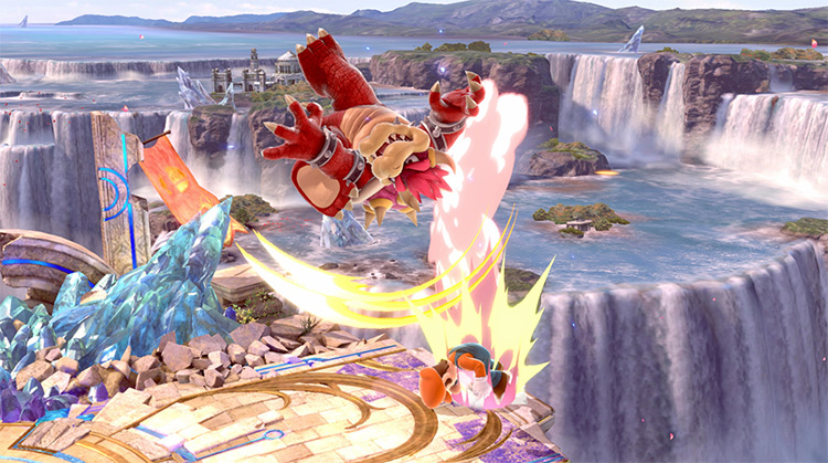 Bowser New Down Air SSBU Mod