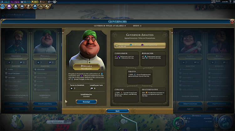 Pingala Governor in Civilization 6