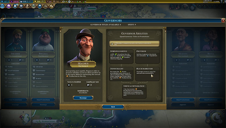 Magnus Civilization 6 Governor