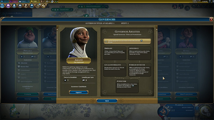 Amani Civilization 6 Governor