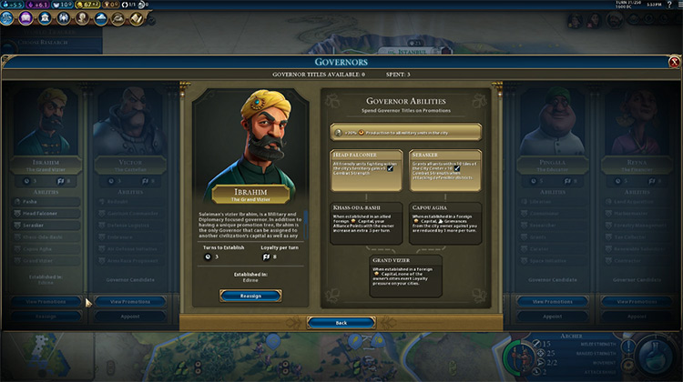 Ibrahim Civilization 6 Governor