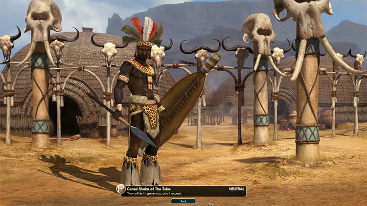 Zulu - Shaka Civilization 5 Leader