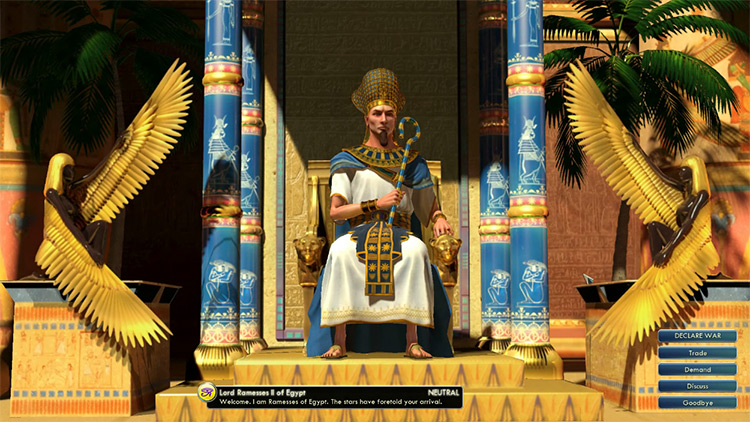 Egypt - Ramesses II Leader in Civilization 5