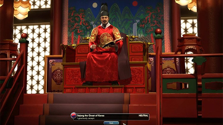 Korea – Sejong Civilization V Leader