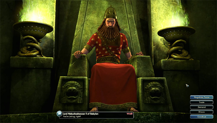 Babylon - Nebuchadnezzar II Civilization 5 Leader