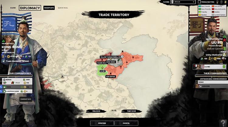 Kong Rong Total War: Three Kingdoms Faction Leader