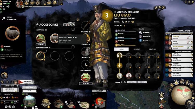 Liu Biao Faction Leader in Total War: Three Kingdoms