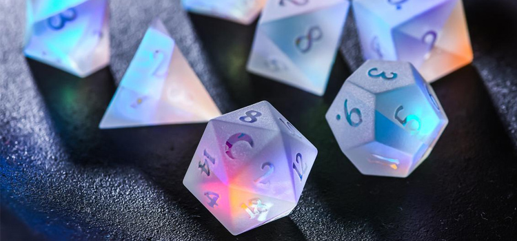 Raised Glass - Transparent Dice Customized by CrystalMaggie